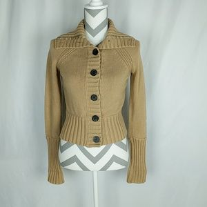 American Eagle Outfitters Tan Cardigan Medium